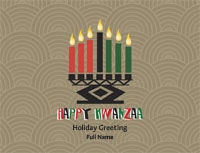 Kwanzaa2 Greeting Card (4x55)
